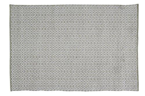 Home Basics HM18M tapijt, katoen, olijfgroen, 120 x 180 cm