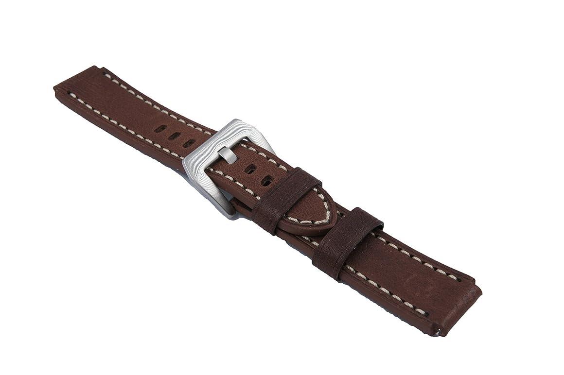 古い免除するセンチメンタルHuawei Watch 1 W1/Huawei Fit 専用時計バンド ベルト イタリア 本革レザー高級のウォッチベルト (ダークブラウン)