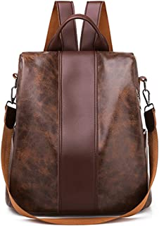 Anti-theft Backpack - Waterproof Soft PU Shoulder School Bag Anti-theft Bag For Women FBY0080-2