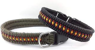 Collar de ESPAÑA para perro de paracord, personalizable, hecho a mano y a medida. Mod. TRILOBITE.