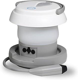 Qurra(washray) 携帯用 トイレシャワー 洗浄器 ウォシュレイ ウォシュレット 携帯 シャワートイレ 充電式 水圧調整 温水対応 折りたたみ 持ち運び LEDライト ハンディ 携帯おしり洗浄機 3R SYSTEMS
