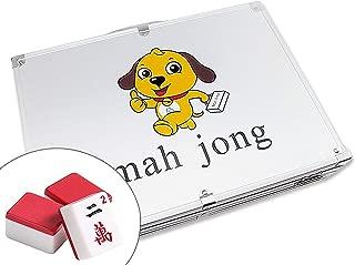 高品質麻將 Classic Chinese Mahjong Game Set – 144 Numbered Red Melamine TilesLucky Dog Pattern Aluminum case Complete Set Weighs 9 lbs ( Mahjongg, Mah-Jongg, Mah Jongg, Majiang)