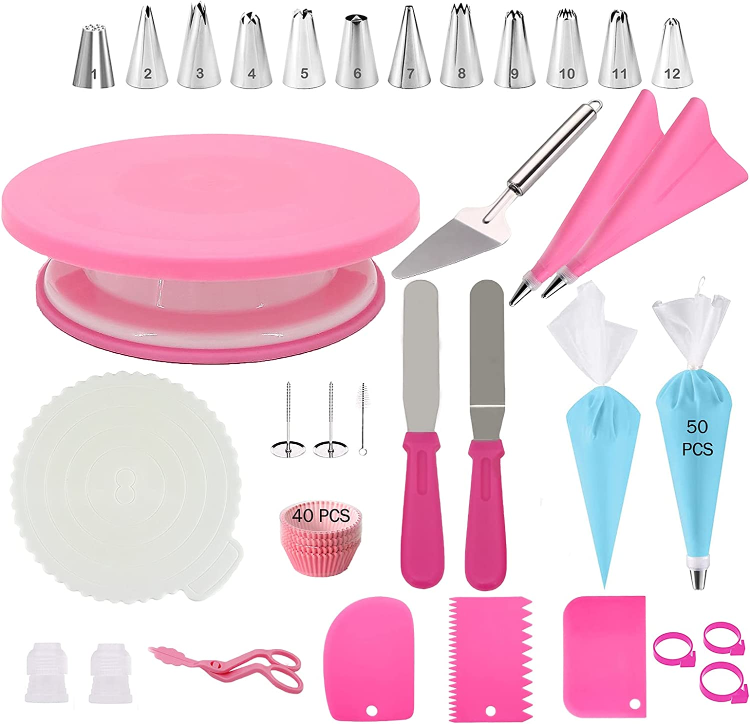 Pink trend rank Cake Decorating Kit PCS Sale Special Price Supplies wi 121