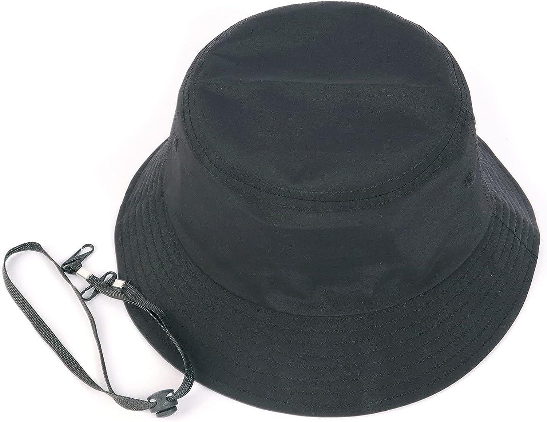 Oversize XXL Quick Dry Bucket Hat,Waterproof Outdoor Fisherman Cap,Lightweight Summer Sun Hat with Detachable Chin