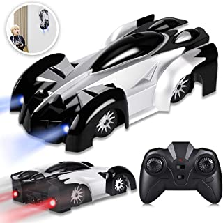 YEZI Remote Control Car, Kid Toys for Boys Girls, Dual Mode 360°Rotating Stunt Car with Remote Control, Head and Rear LED Lights, Intelligent Glowing USB Cable, Girl and Boy Gifts