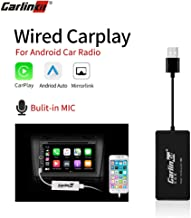 Carlinkit Wired Carplay Dongle USB Adapter with MIC, Android Auto Stereo Mini Receiver Box for Android Head Unit(Android Navigation Player), Navigation Mirroring, Support iOS13, Black