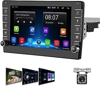 Autoradio Android 1 Din GPS CAMECHO 8 Pouces écran Tactile WiFi Bluetooth Radio FM Téléphone Portable Lien Miroir Double U...