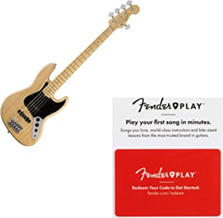 $1749 » Fender American Professional Jazz Bass V Maple FB Natural Bass w/Case and Fender