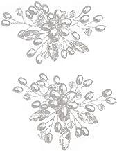BESTOYARD 1 Par Clip de Zapatos Desmontable de Cristal de Imitación Plata para Fiesta Boda Blanco