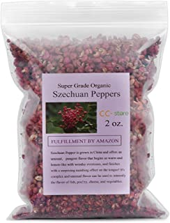 CC-Store Szechuan Peppercorns 2oz-Less Seeds-Strong Flavor and Taste-Red Sichuan Peppers for Kung Pao Chicken and Mapo Tofu