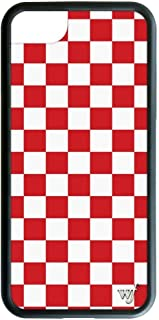 Wildflower Limited Edition iPhone Case for iPhone 6, 7, or 8 (Red Checkered)