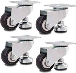 4 stks Castor Wheels 50mm Nivellering Caster Intrekbare Swivel Wheels Industriële Plaat Gemonteerde Footmaster Casters Lad...