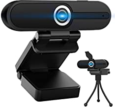 Webcam FHD 1080P,Webcam with Microphone,Play and Plug Computer Camera,USB Streaming Web Camera with Privacy Cover and Trip...