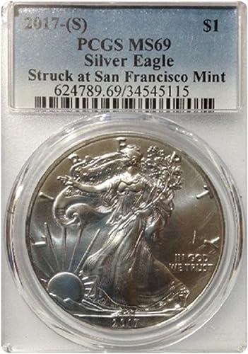 ventas directas de fábrica plata Eagle Eagle Eagle 2017 US Mint, San Francisco Branch Rare en Esta condición.  calidad fantástica