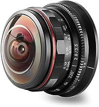 MEKE 3.5mm f2.8 220 Degree Manual Focus Circular Fisheye Lens Compatible with Olympus Panasonic Lumix M4/3 MFT Mount Cameras