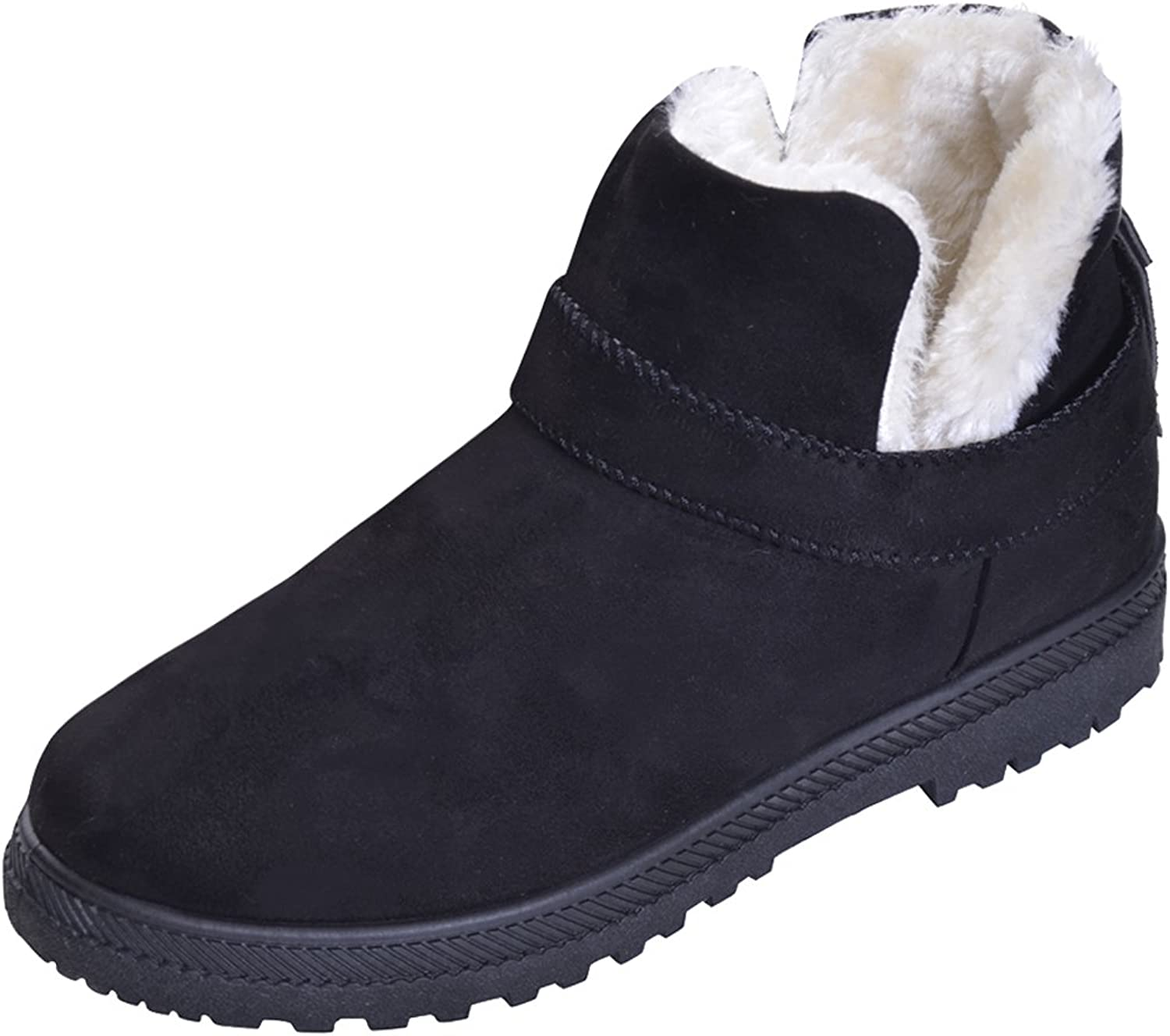 Hee Grand Women's Flat Ankle Boots Warm Fur Snow Boots Winter shoes
