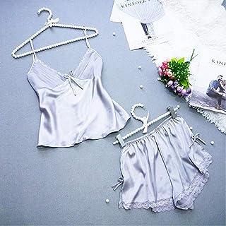 Fresh Summer Lace V-Neck Pajamas Suit Soft Pajamas