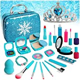 Flybay Kids Makeup Kit for Girl, Real Makeup Set, Washable Makeup Kit for Kids, Girl Gift Toys Toddler Play Makeup Set for 4 5 6 7 8 Years Old Little Girls