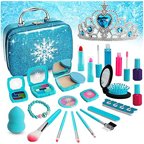 Flybay Kids Makeup Kit for Girl, Real Makeup Set, Washable Makeup Kit for Kids, Girl Gift Toys Toddler Play Makeup Set Toys And Gifts For 9 Year Old Girls