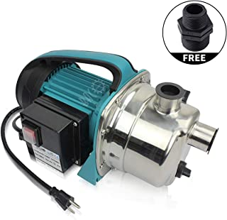 BACOENG 1.6HP Stainless Booster Pump Shallow Well Pump for Home Garden Irrigation