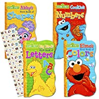 Sesame Street First Board Books - Set of Four (ABCs, 123s, Colors, Shapes) by Sesame Street [並行輸入品]