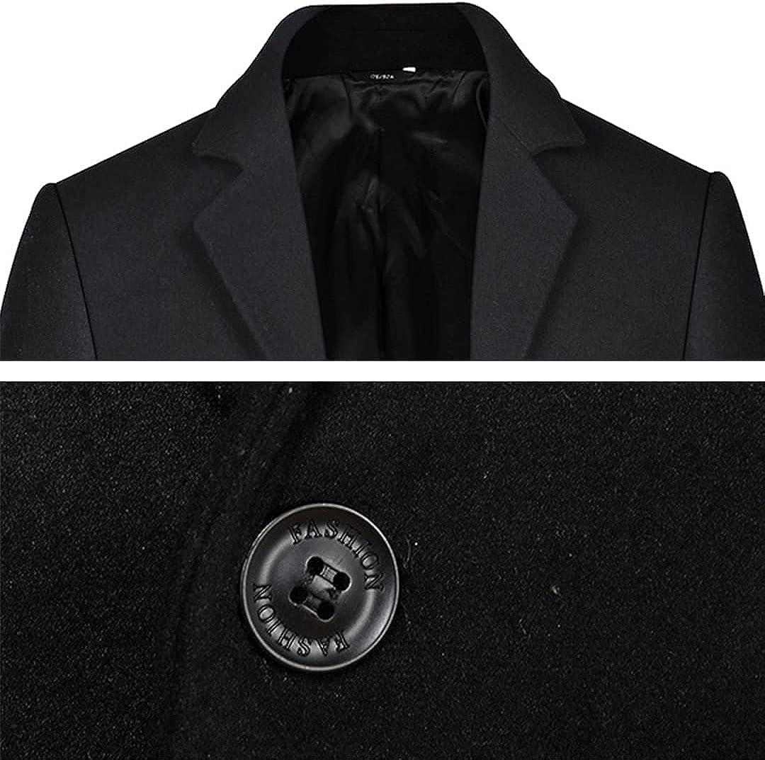 Men Wool Coats Warm Hombre Ccoat Slim Winter Jacket Comfortable Overcoat Mens Coat Business Overcoat