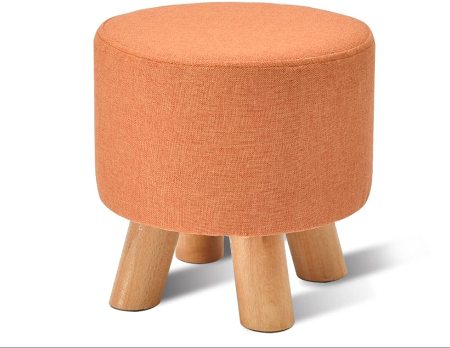 Fabric Small Round Stool, Home Living Room Sofa Bench, Simple Doorway shoes Bench,D