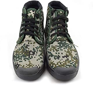 LUKEEXIN Training Shoes High to Help Digital Camouflage Liberation Shoes Canvas Shoes Liberation Shoes Military Training Labor Insurance Work Shoes
