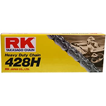 520 Series RK Racing Chain M520HD-130 130-Links Standard Non O-Ring Chain with Connecting Link