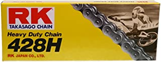 RK Racing Chain M428H-130 (428 Series) 130-Links Standard Non O-Ring Chain with Connecting Link