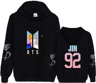 Aopostall Kpop BTS Love Yourself Answer Hoodie Suga Rap-Monster Unisex Pullover for Women Sweatshirt