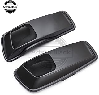 Moto Onfire Charcoal Pearl 6 x 9 inch Saddlebag Speaker Lids Audio Cover Fit for Harley Touring Road Street Glide Hard Saddle Bags 2014 2015 2016 2017 2018 2019
