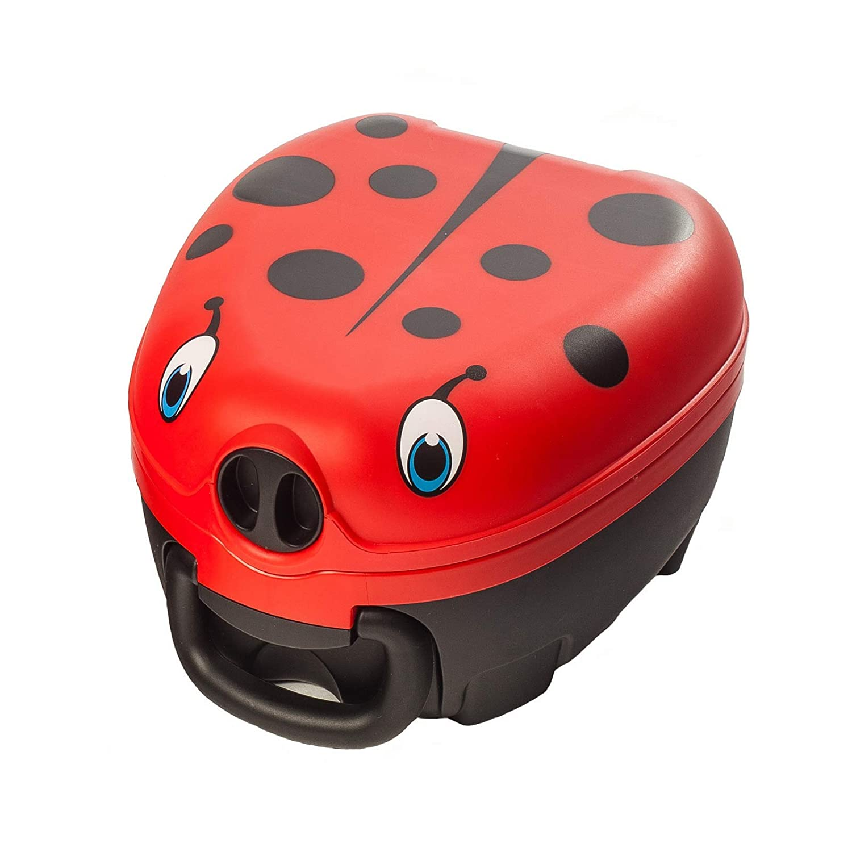My Carry Potty - Ladybug Travel Potty, Award-Winning Portable Toddler Toilet Seat for Kids to Take Everywhere