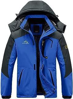 BIYLACLESEN Men's Winter Coats Windproof Parka Fleece Lined Ski Snowboard Jacket Windbreaker