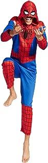 Men's Spiderman One-Piece Unionsuit Pajama Costume