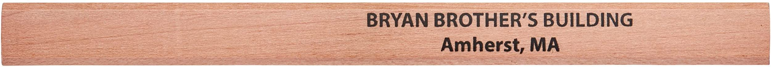 Pencil Guy Promotional Personalized Imprinted Carpenter Pencils Natural 72 to a box