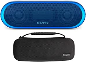 Sony SRSXB20 Portable Bluetooth Speaker (Blue) with Knox Gear Hardshell Travel and Protective Case Bundle (2 Items)