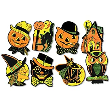 Beistle Pkgd Halloween Cutouts 8.5 inches x 9.25 inches - 8 cutouts/pkg