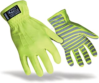 Ringers TrafficR-307 Reflective Gloves for Traffic Control, High Visibility, Green, Small