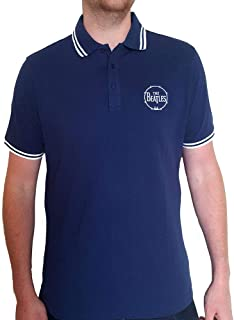 Rock Off The Beatles Drum Logo - Polo unisex, color azul