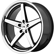 ADVENTUS AVS-2 Wheel with BLACK and Chromium (hexavalent compounds) (22 x 10.5 inches /5 x 74 mm, 25 mm Offset)
