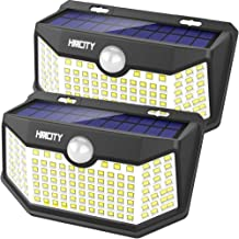 Hmcity Solar Lights Outdoor 120 LED with Lights Reflector, Motion Sensor Security Lights IP65 Waterproof Solar Powered for Garden Patio Yard (2Pack)