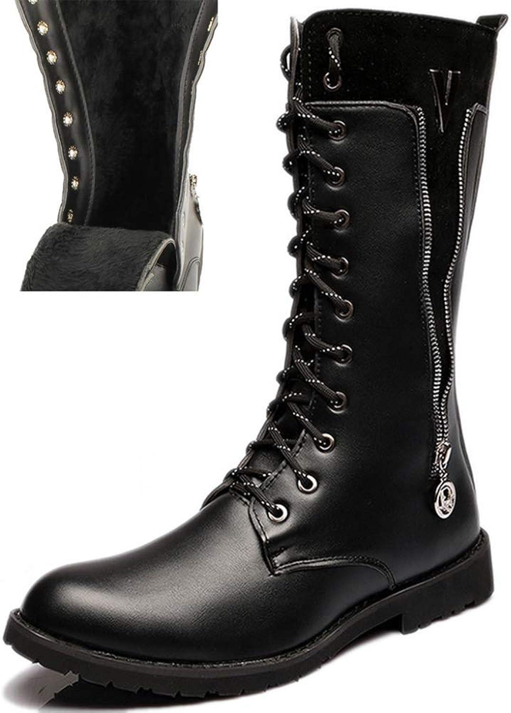 ASJUNQ Non-Slip High-top Martin Boots High Boots Chelsea Hiking shoes Locomotive Men Wear