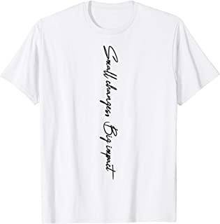 'Small Changes Big Impact' Ocean Conservation Shirt T-Shirt