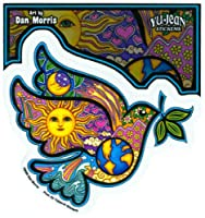 """Dan Morris - Peace Dove Olive Sticker Decal - 4 5/8"""" W x 4"""" H - Weather Resistant, Long Lasting for Any Surface"""