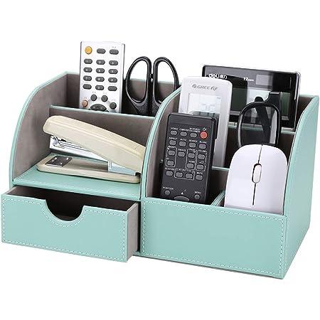 Pink F/ülleMore Schreibtisch Organizer mit 8 F/ächern und 1 Schublade,Multifunktionale Stiftehalter Stiftebox B/üro Schule Tischorganizer Metall Aufbewahrungsbox 22x11x10.5cm