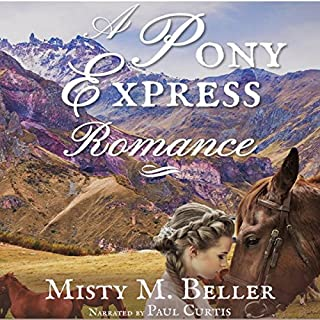 A Pony Express Romance audiobook cover art