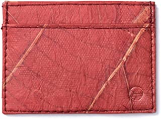 Leaf Leather Slim Wallet - Minimalist Ultra Thin Handmade Card/Cash Holder