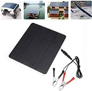 Fine 20W Solar Panel,Car Battery Charger, Portable Solar Panel,12V / 5V Battery Charger for RV Boat, Car, Caravan (with Alligator Clip)