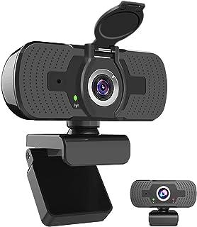 iAmotus 1080P Webcam Full HD, Microfono Incorporato e Copertura Telecamera Plug And Play USB Fotocamera Web per Videochiamate, Studio, Conferenza, Registrazione, Giochi Compatibile con PC Windows Mac